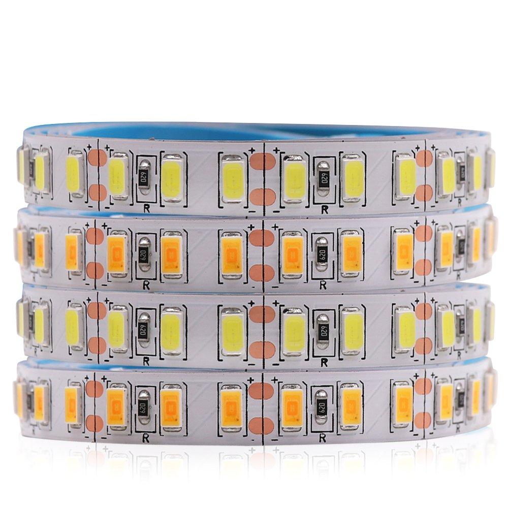 120leds/m 5M led strip SMD 5730 Flexible tape light 5630 Not waterproof white /warm DC12V