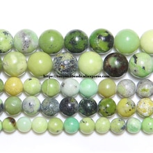 Livraison gratuite naturel chine matériel Chrysoprase Jades pierre ronde perles en vrac 6 8 10 MM Pick taille pour la fabrication de bijoux