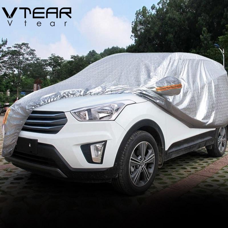 Vtear para Hyundai Creta Ix25, cubierta a prueba de polvo para coche, protección gruesa de aluminio, accesorios de cubierta completa para exteriores 2017-2020