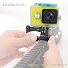 Picatinny Tüfek Ray Dağı Airsoft Tabancası Weaver Raylı Alüminyum Alaşım Adaptörü için Xiaomi Yi 4K 4K + gopro Sony X3000 X1000 Kamera