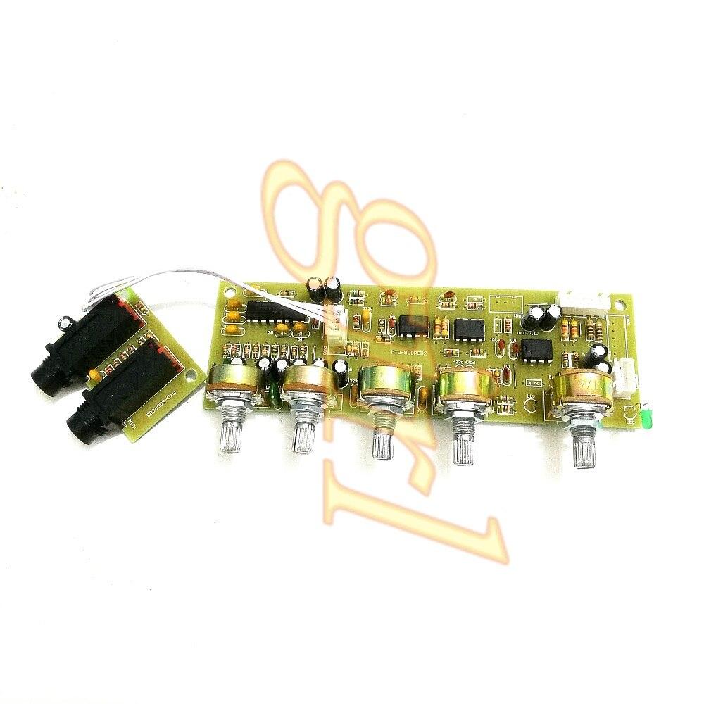 Amplificador de Audio, placa de sonido, amplificador frontal, micrófono, placa de reverberación MIC, tablero de tono vertical para cine en casa.