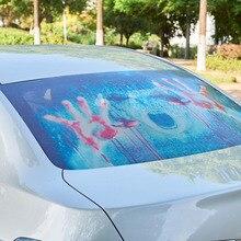 AUMOHALL-autocollant dhorreur 3D Transparent   Autocollant de voiture arrière, pare-vent de voiture, autocollants de monstres de lautomobile Halloween en vinyle danimal autocollant