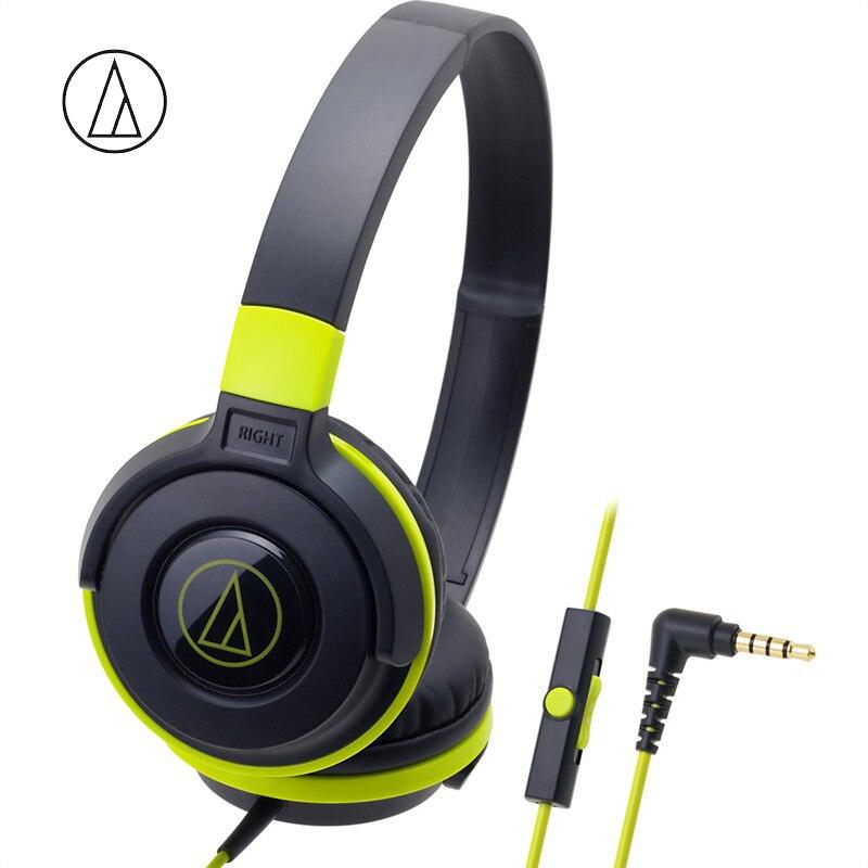 Original Audio Technica ATH-S100iS Spiel Kopfhörer Kopf-montiert Mit Wired Steuerung Mit Weizen Bass Musik Kopfhörer