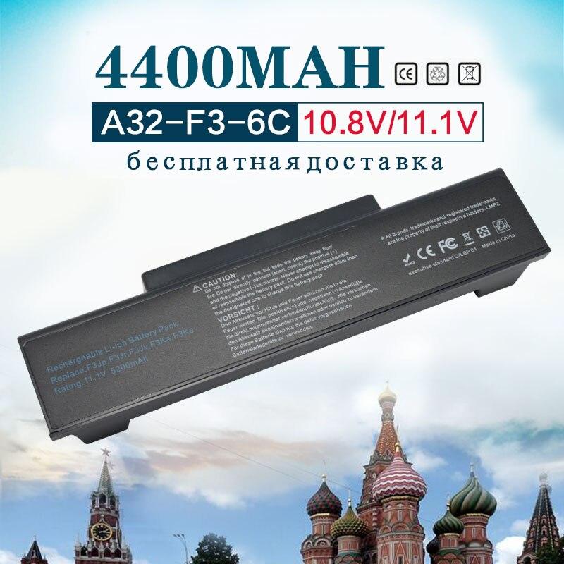 11,1 v 4400MAh batería A32-F2 A32-F3 A32-Z96 A32-Z94 SQU-528 BTY-M66 para Asus Z53 M51 Z94 A9T F3 F3S F3K F3SV F3T F3JR F3JA F3E