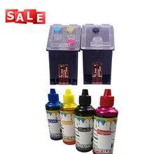 Economic energy kit Refillable Ink Cartridge + 400 ML ink Replace for HP 46 DeskJet 2020hc 2025hc 2520hc 2029 2529 4729 Printer