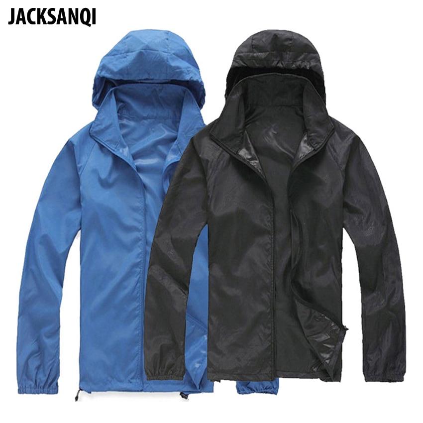 AliExpress - JACKSANQI Men Women Quick Dry Hiking Jackets Waterproof Sun-Protective Outdoor Sport Skin Coats Male Female Camping Jacket RA099