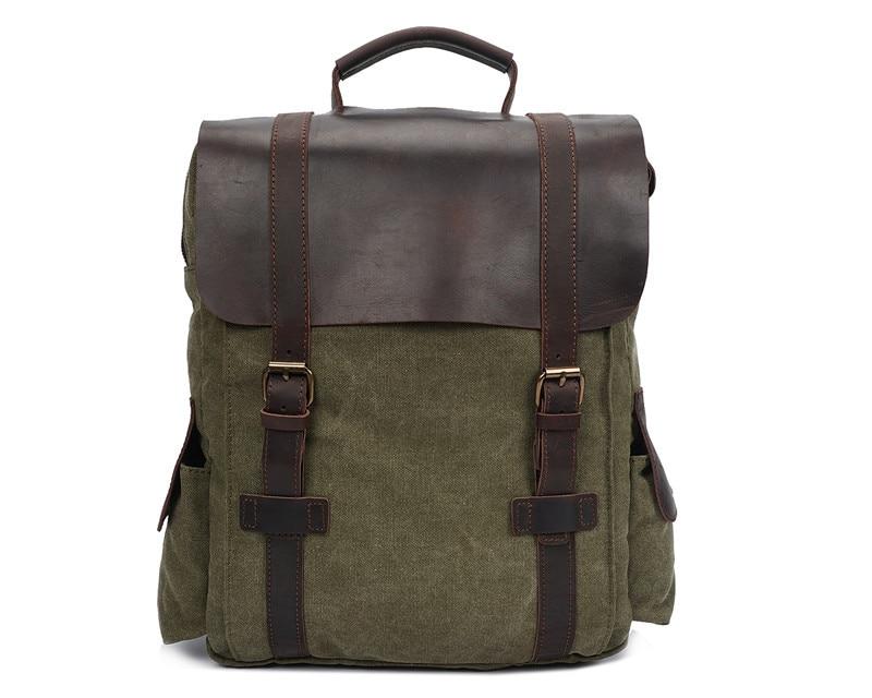 """Verde do Exército do Vintage de Alta Bolsa de Viagem dos Homens Nesitu Lona Cáqui Azul Qualidade 14 """"laptop Mochilas Homens Mulheres M1820"""