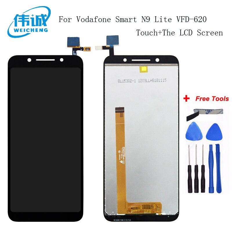 WEICHENG 5,34 pulgadas para Vodafone Smart N9 Lite VFD-620 pantalla LCD + MONTAJE DE digitalizador con pantalla táctil para Vodafone VFD620 + herramientas