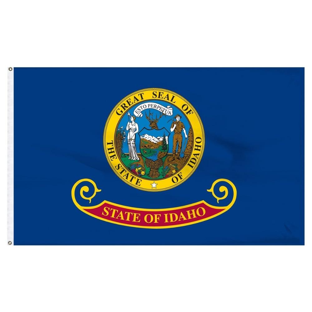 johnin 90X150cm us usa state idaho flag