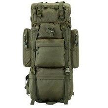 70L Outdoor Camping Backpack Metal Bracket Sports Climbing Hiking Military Tactical Waterproof  Wear-resisting Hunting Nylon Bag