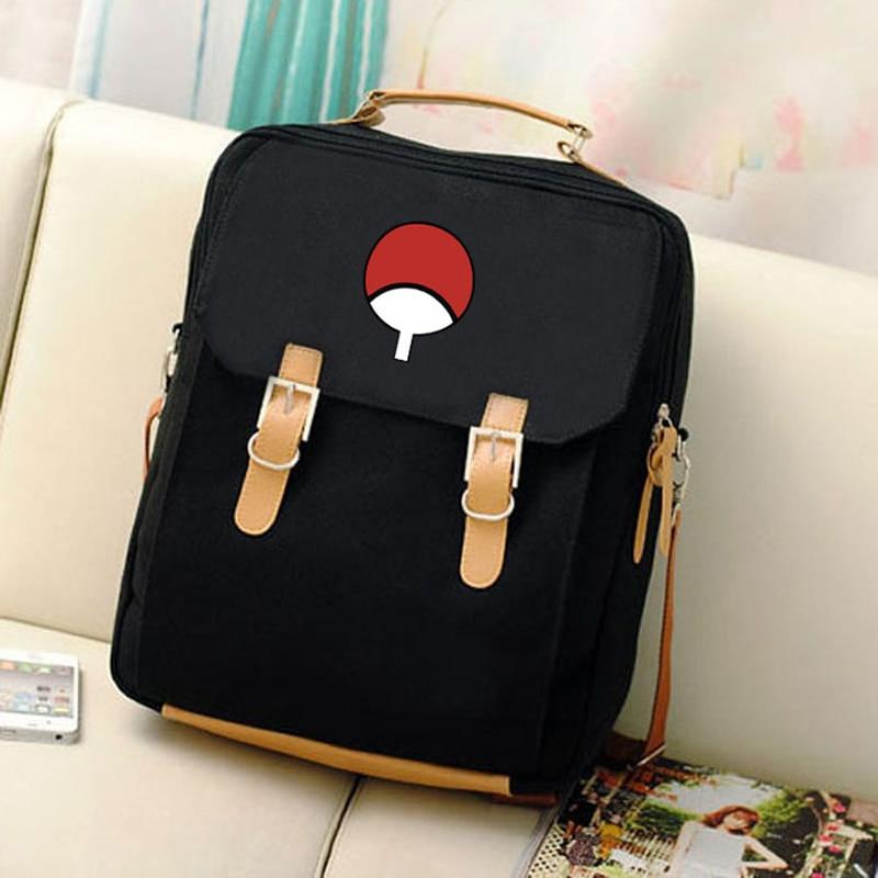 Anime bag shoulder bag Naruto bag Uchiha group fan 2018 new best selling casual fashion female backpack student backpack