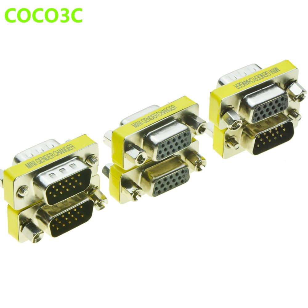 Adaptador de Cable VGA 15PIN macho a macho DB15 macho a hembra...