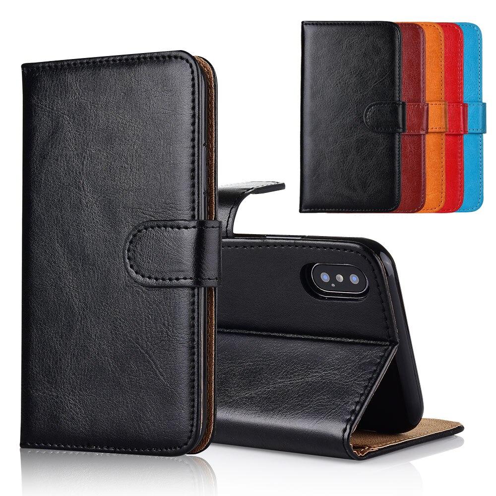 Para Highscreen Zera S Power funda cubierta soporte flip Cartera de cuero con bolsillo de tarjeta