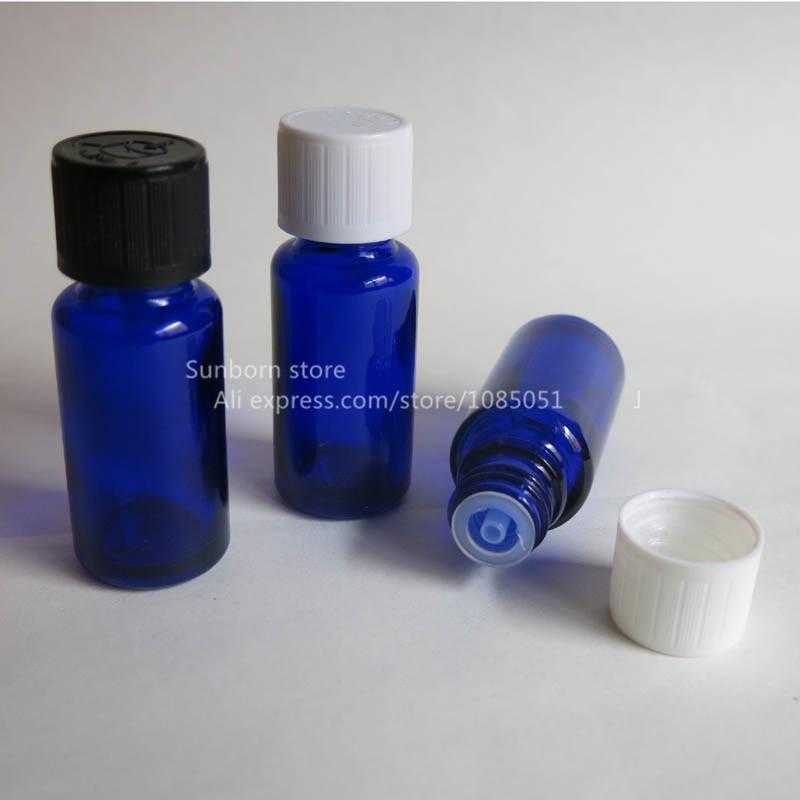 500X1/2 oz زجاجة من الزجاج الأزرق مع قطارة المخفض ، 15 مللي زجاجة مستحضرات التجميل العشبية بالجملة