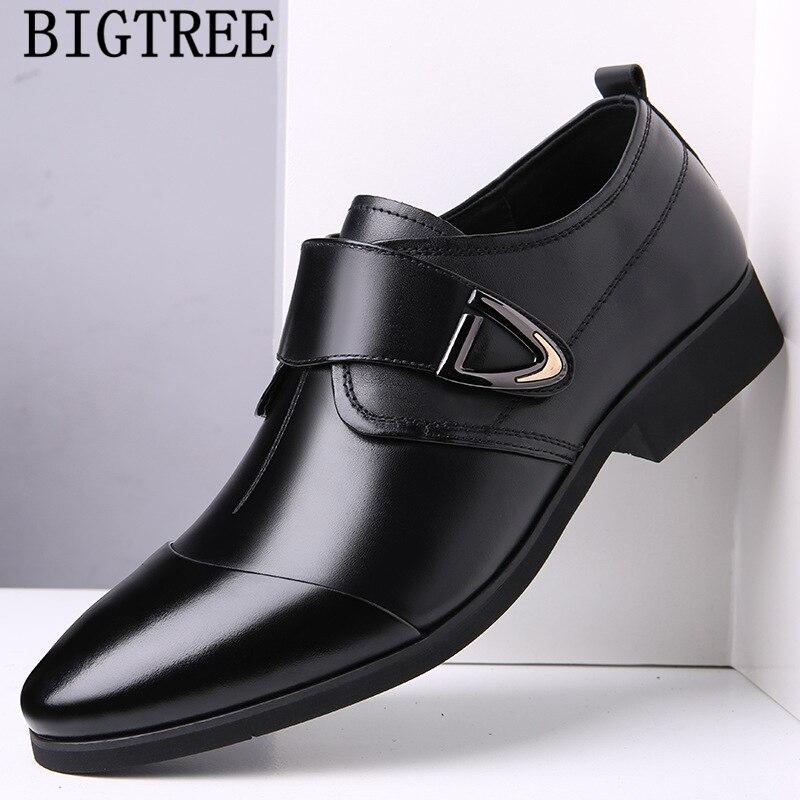 Zapatos de vestir para hombre zapatos de negocios zapatos italianos de cuero...