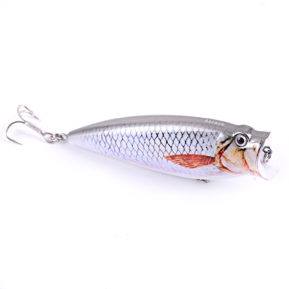 9.5cm lifelike popper isca de pesca super topwater crankbait 16.5g vívido peixe isca baixo poleiro pique pesca isca wobbler