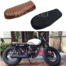 Universale moto Retrò brwon nero piatto sedili Dell'annata sede di Sella custion per Honda CB125S CB200 cafe racer CG 125 posti