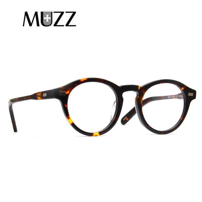 MUZZ модные ацетатные оптические очки, оправа, круглые очки, 2018 Брендовые мужские и женские очки для чтения, оправа для очков