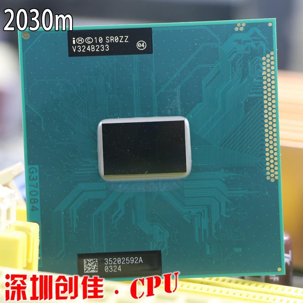 Original lntel Pentium CPU procesador Dual-Core móvil chip SR0ZZ 2030M versión oficial rPGA988B hembra G2 2,5 GHz 2020m