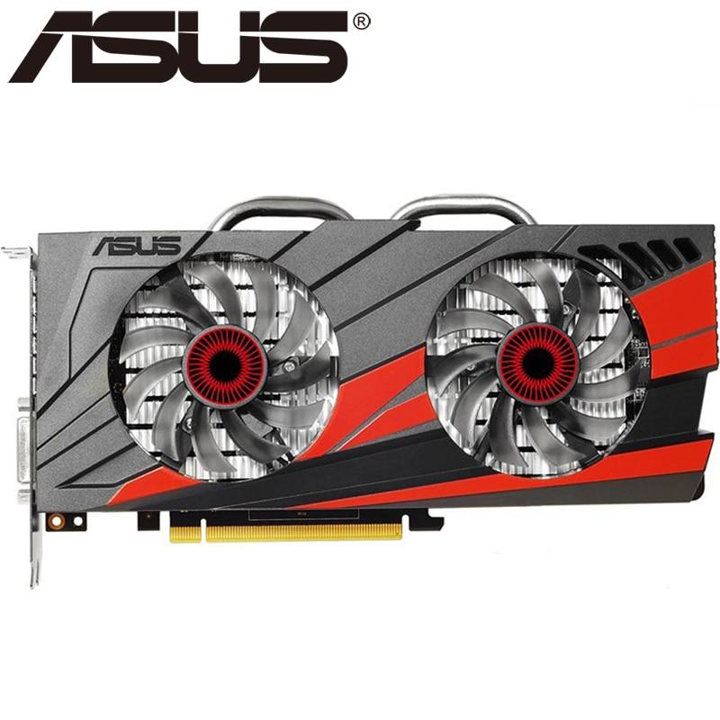 Tarjeta de vídeo ASUS GTX 960 2GB 128Bit GDDR5 tarjetas gráficas para nVIDIA VGA tarjetas Geforce GTX960 HDMI GTX 750 Ti 950 1050 1060 usado