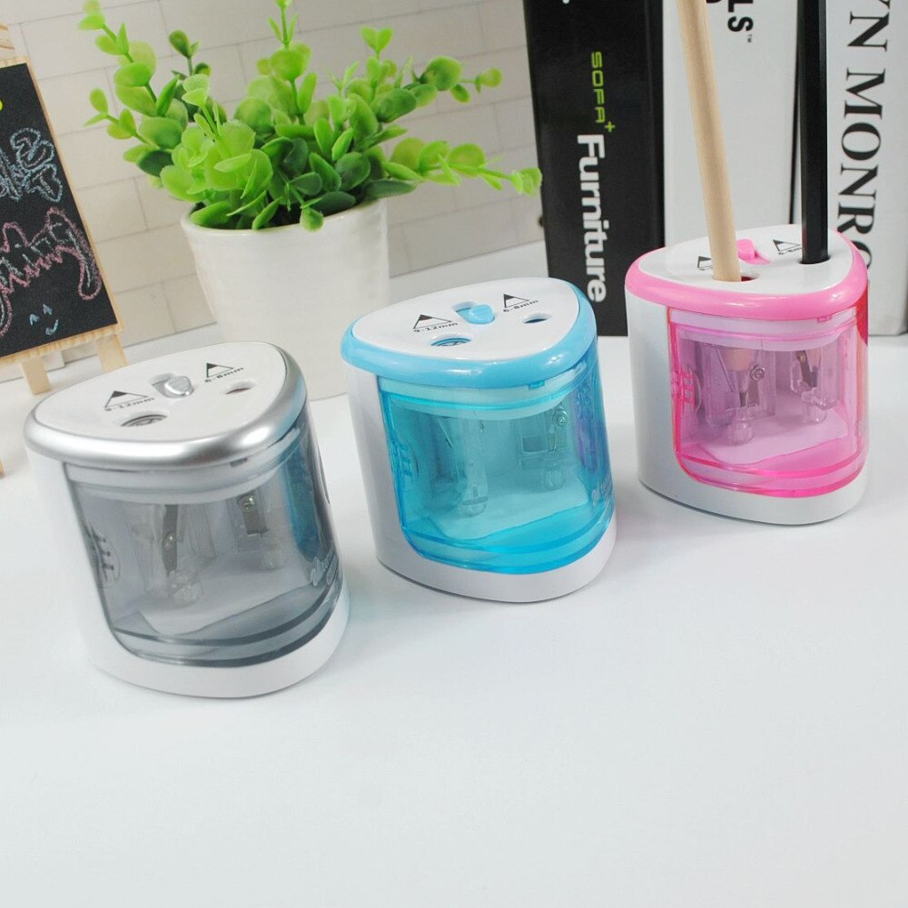 Coloffice-afilador de lápices eléctrico automático, sacapunas eléctrico con batería, Material Escolar