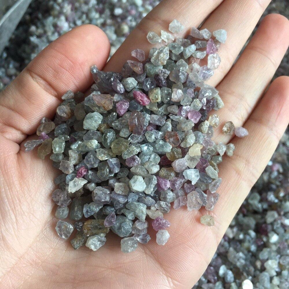 50g variado pequeno tamanho natural rubi safira topázio original pedra cascalho cristais de cura do reiki DIY fazer jóias de pedras preciosas em bruto