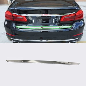 Car Accessories Exterior Decoration Stainless Steel Rear Tail Gate Molding Cover Trim For BMW 5 Series 2017 Car Styling