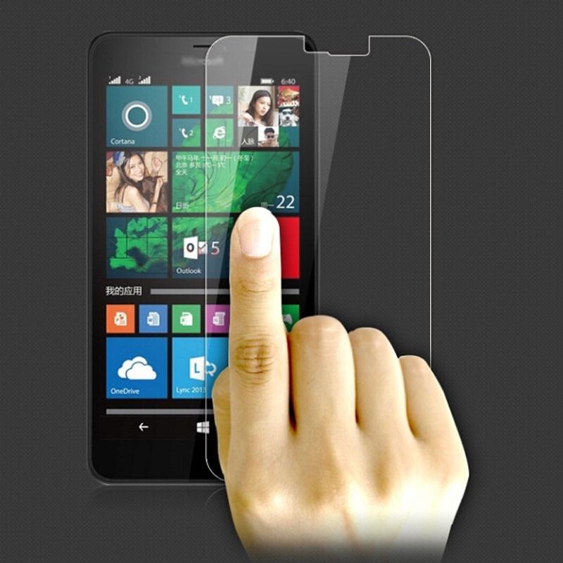 2 piezas de vidrio para Microsoft Lumia 640 XL Protector de pantalla...