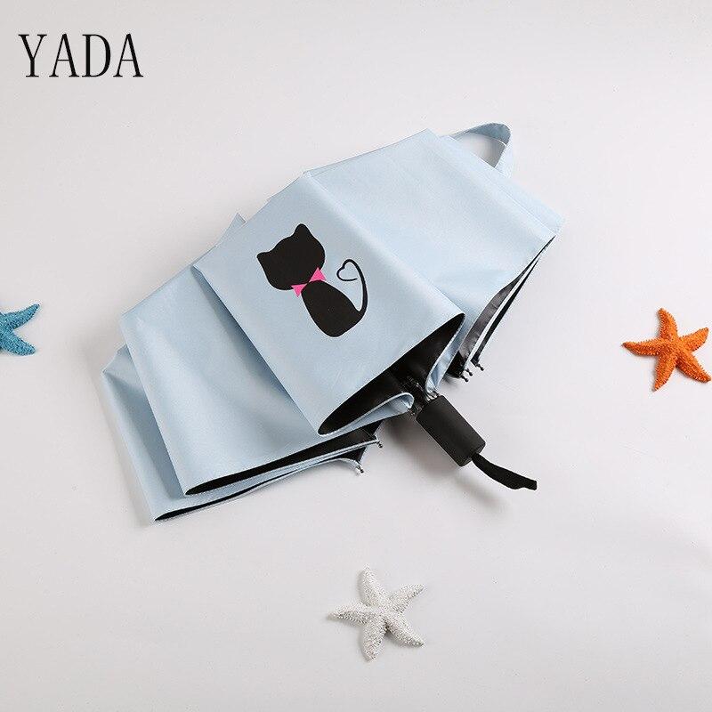 Qualidade para Mulheres Guarda da Criança uv de Alta Yada Volta Gatos Encantos Padrão Folding Umbrella Chuva Mulheres Guarda-chuva Coréia Estilo Ys428