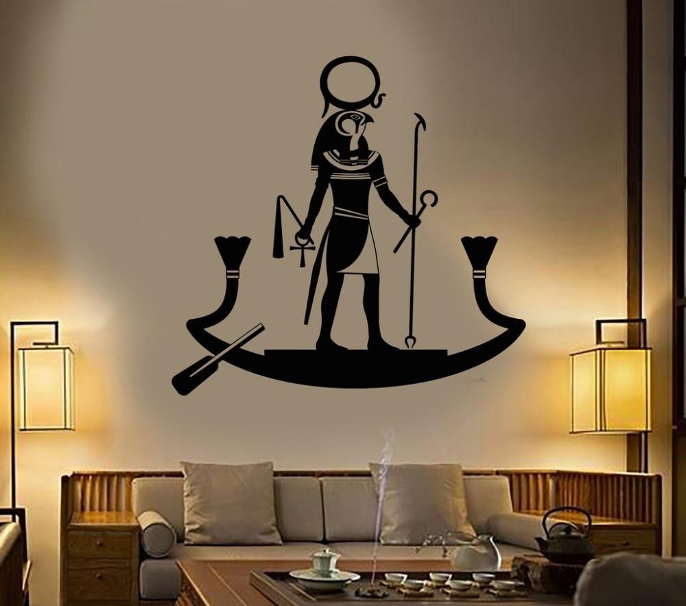Antigo deus egípcio ra religião egito adesivos de parede sala estar decoração interior casa design quarto vinil mural da parede decalque d544