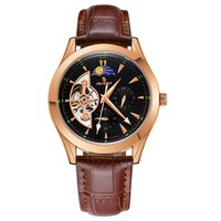 SENORS Watch Men Skeleton Automatic Mechanical Wristwatches Male luminous Watch Men Hands sport Mens Fashion Casual clock