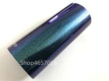 152cm x 20m brillante/mate perla de camaleón etiqueta engomada de diamante película de vinilo
