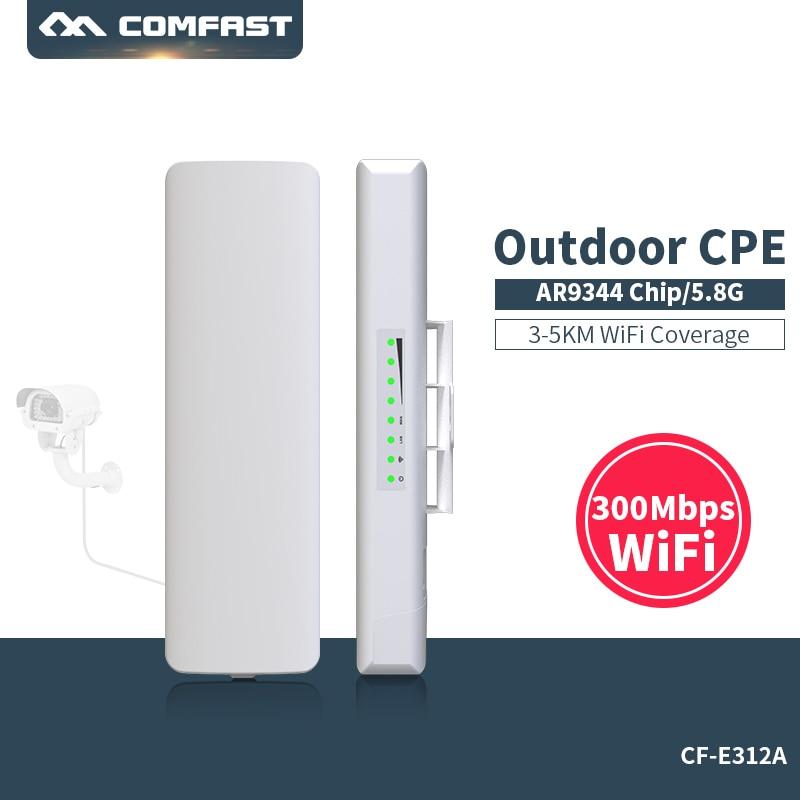 comfast cf e312a 3km cpe 5ghz 300mbps roteador cpe ao ar livre longa distancia wifi