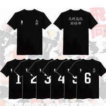 Anime Haikyuu Cosplay T-Shirts Karasuno lycée Hinata Shyouyou manches courtes t-shirt décontracté hauts uniformes