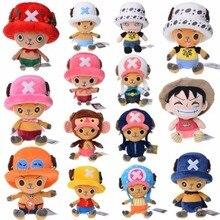 Аниме one piece Luffy чоппера плюшевая кукла с героями мультфильмов ророноа Зоро франки симпатичная мягкая кукла для детей, подарок на день рождения, игрушки
