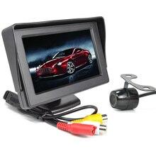4,3 inch tft lcd-scherm pocket- sized kleur auto achteraanzicht monitor + cmos kleur 18mm/ccd auto camera