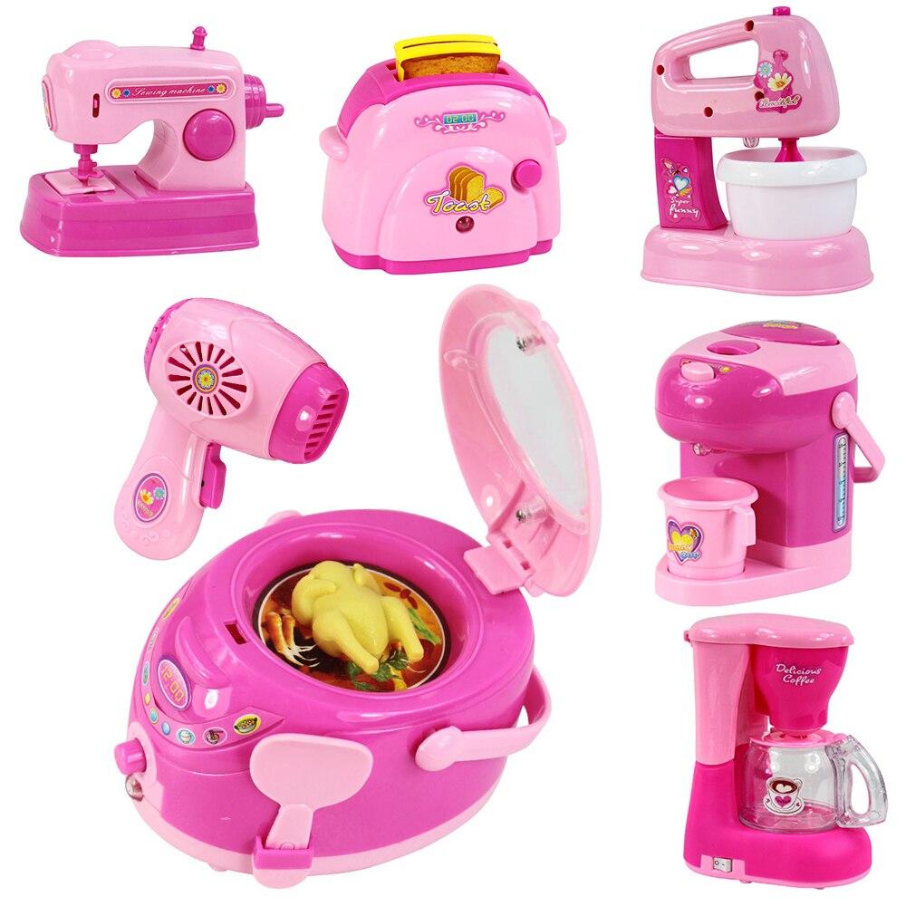 Juguetes de cocina de simulación para niños, electrodomésticos rosados, tostadora, aspiradora, cocina, exprimidor, licuadora, juguete para chico, juguetes para niñas