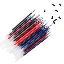 12 pièces Gel stylo recharge bille 0.5mm stylo Gel recharges cartouche remplaçable le bureau et fournitures scolaires papeterie en gros
