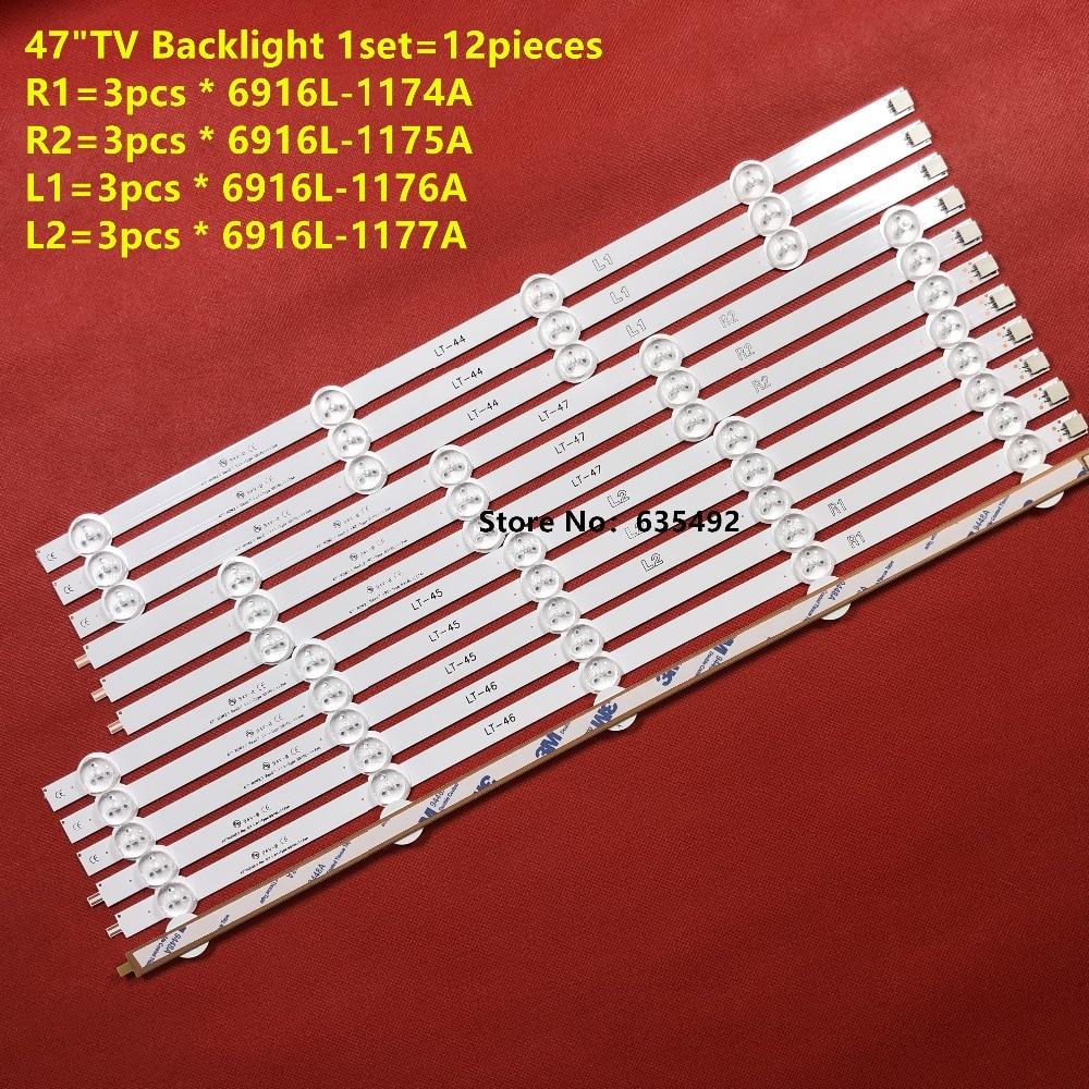 """Led Backlight 9Leds Voor Lg 47 """"Lcd Tv 47LA6208 47LA6200 47LN5400 47WL30MS 6916l-1527a 6916l-1528A 6916l-1547A 1529A 6916L-1359A"""