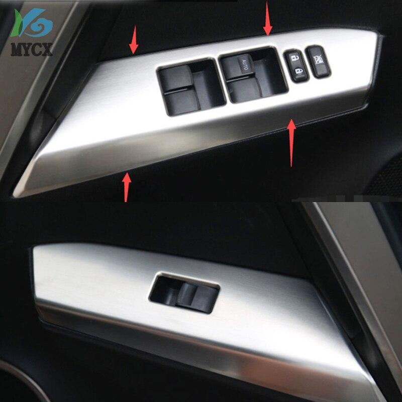 De la ventana regulador de levantador de cubierta de botón de interruptor Trim 4 Uds para toyota rav4 RAV 4 2014 de 2015 de 2016