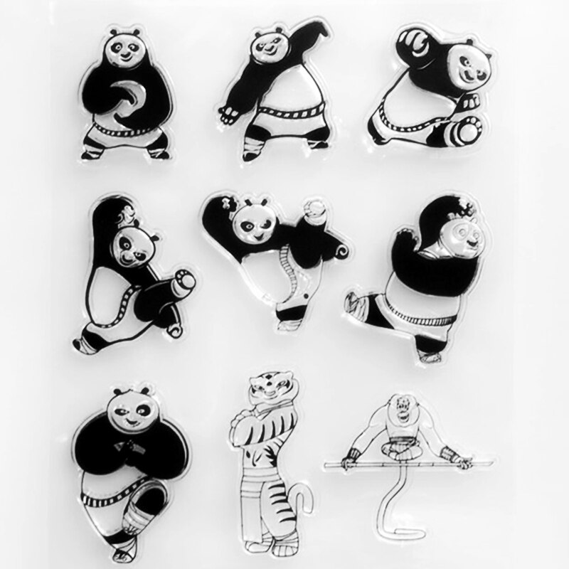 YLCS409 Panda Silicone Clear Stamps For Scrapbooking DIY Photo Album Cards Decoration Craft Transparent Stamp New