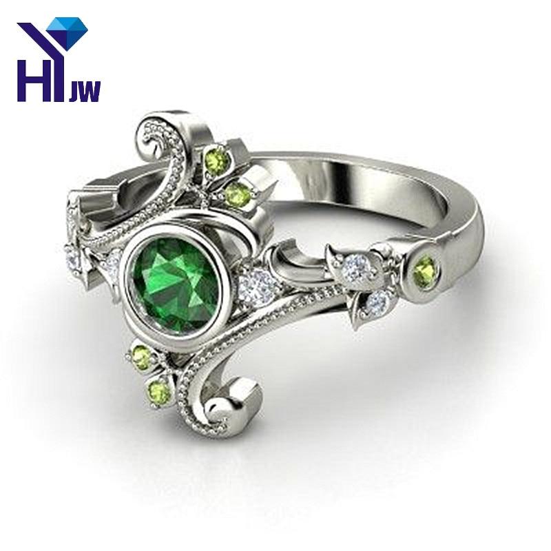 HEYu Hogwarts Ravenclaw Slytherin Gryffindor School Ring Blue Crystal Ring Vintage Party Wedding Rings US Size 7-12