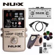 NUX Loop Core Deluxe pédale de boucle de guitare améliorée avec commutateur au pied détection automatique du Tempo 8 heures denregistrement Audio 24 bits + cadeaux