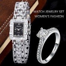 Montres de mariage femmes haut bracelet en argent bague en diamant Femme Hodinky Relojes Mujer Femme cadeau dames robe Saats Relogio Feminino
