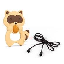 TYRY. HU 1 adet karikatür emzik zinciri bebek diş çıkarma oyuncak oyna hemşirelik silikon diş kaşıyıcı kolye kolye 100*75*15mm ücretsiz kargo