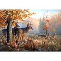 5d diy full drill diamond painting cross stitch sika deer pattern mosaic decorative painting diamond painting stickers