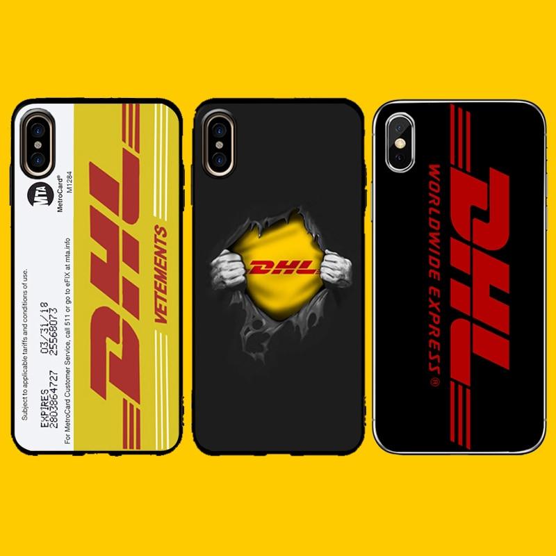 DHL caso para iphone 7 plus XR de carcasas cubierta de TPU para iphone 8 7 6 6S plus X XS X MAX XR Tarjeta de metro de Nueva York de la calle coque capa