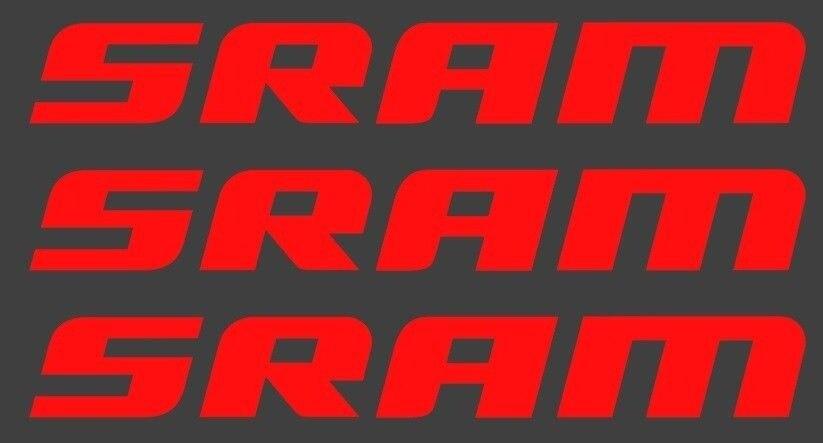 Pegatina de horquilla para bicicleta SRAM, para 2 Uds., Setof3 DH, MTB, Freeride, Moto de descenso, parachoques, parabrisas, estilismo para coche