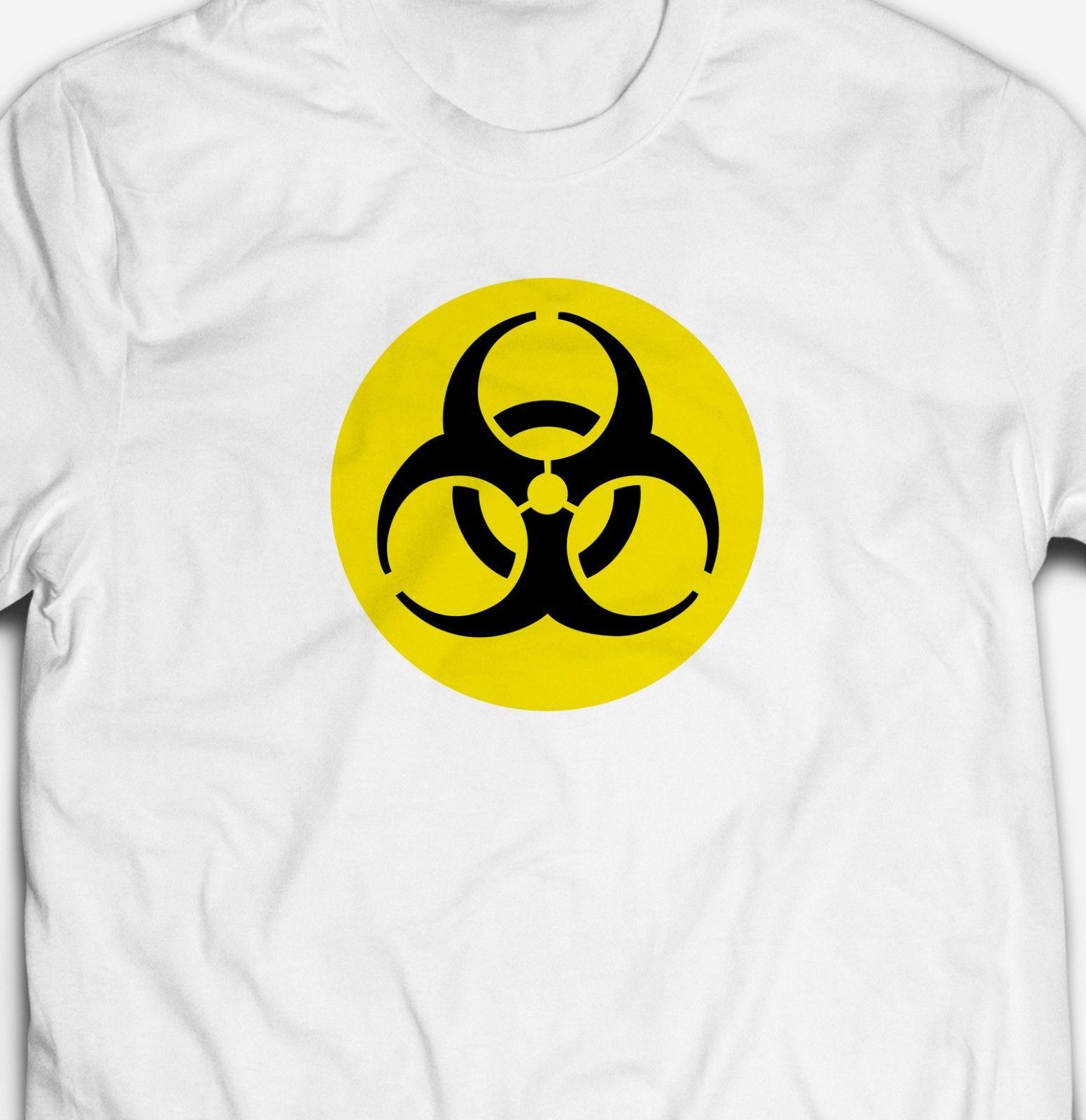 Camiseta clásica Retro Biohazard de advertencia con logo 100% de algodón Biohazard, camiseta moderna de verano para hombre, camiseta fresca con diseño informal