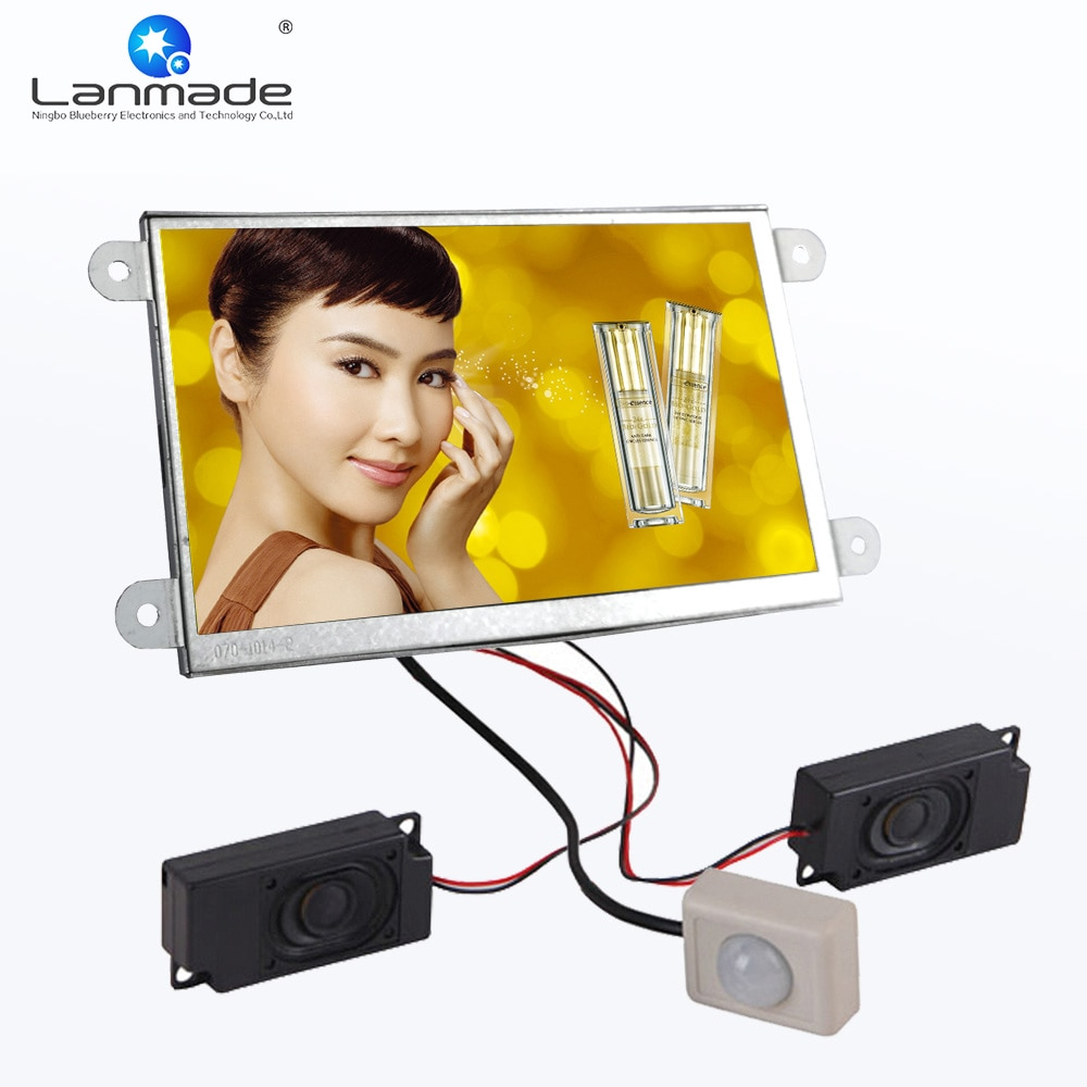 7 polegada quadro aberto sensor de movimento carro flac windows 7 vídeo player lcd vídeo publicidade monitor loja varejo exibição automática